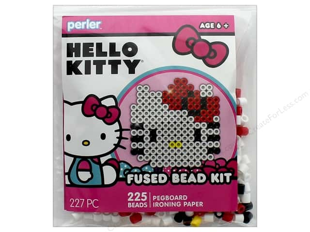Perler Fused Bead Kit Trial 227 pc Hello Kitty Face