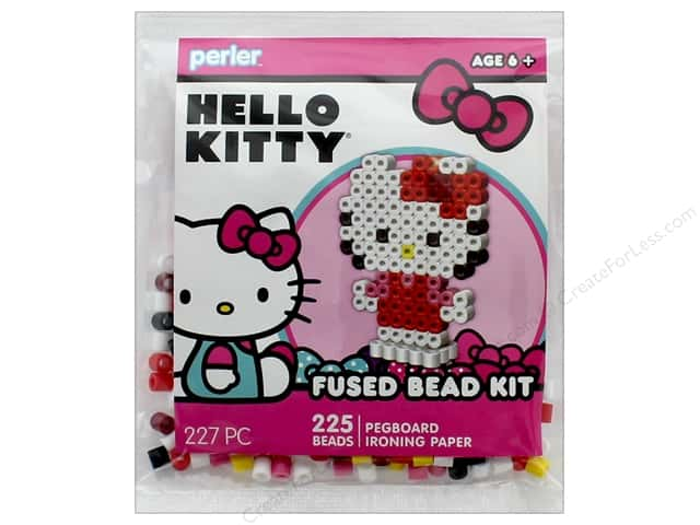 Perler Fused Bead Kit Trial 227 pc 3D Hello Kitty