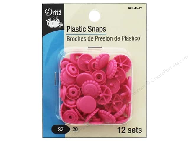 Dritz Snap Plastic Size 20 Flower Hot Pink
