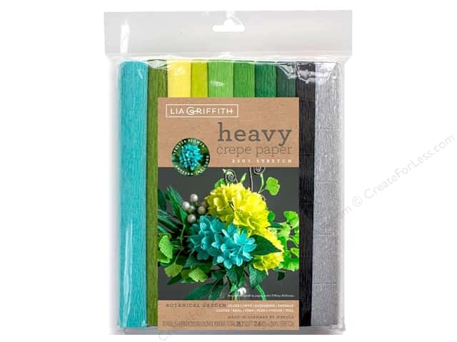 Werola Lia Griffith Crepe Paper Heavy 10 pc Botanical Garden