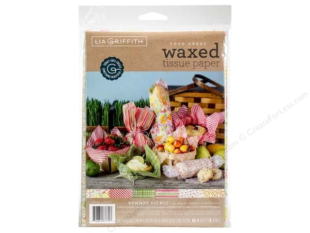 Werola Lia Griffith Tissue Paper Waxed Summer Picnic 24 pc