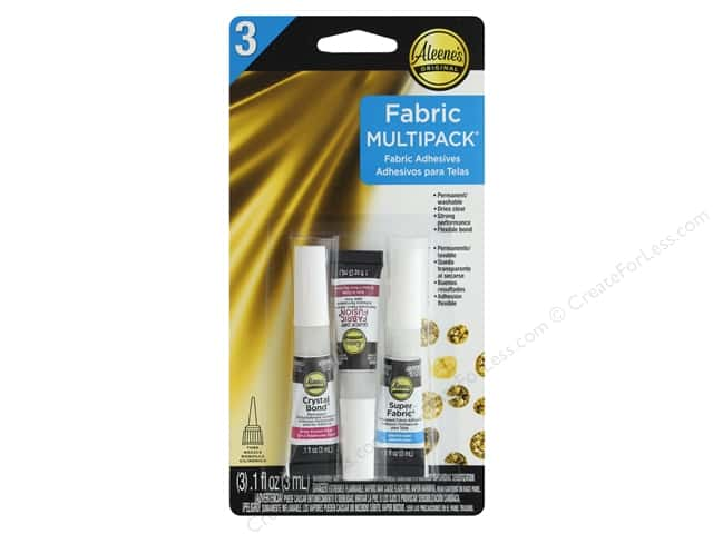 Aleene's Fabric Adhesive Assorted Multipack 3 pc