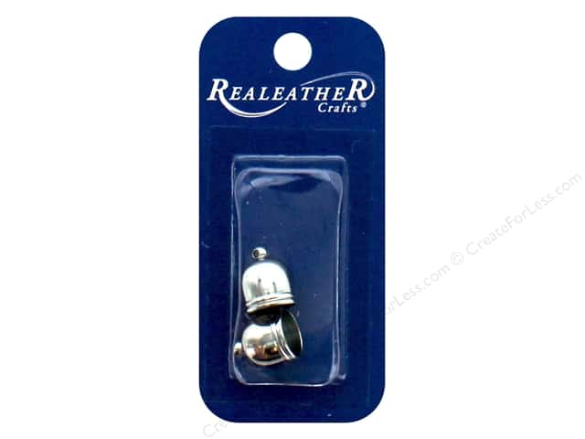 REALEATHER by Silver Creek Findings Tassel End Cap 10 mm Chrome