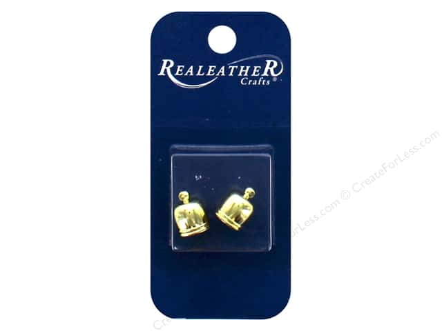 REALEATHER by Silver Creek Findings Tassel End Cap 7 mm Gold