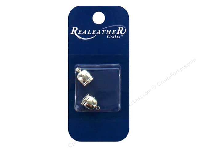 REALEATHER by Silver Creek Findings Tassel End Cap 7 mm Chrome