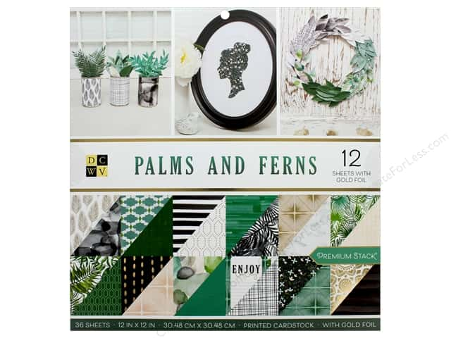 Die Cuts with a View 12 x 12 in. Paper Stack Palms and Ferns