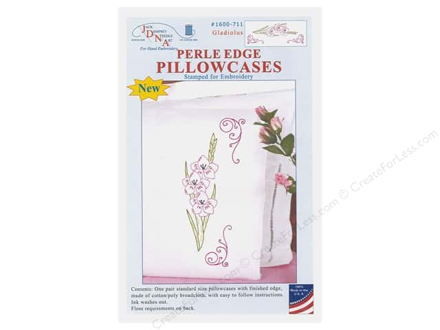 Jack Dempsey Perle Edge Pillowcase - Gladiolus