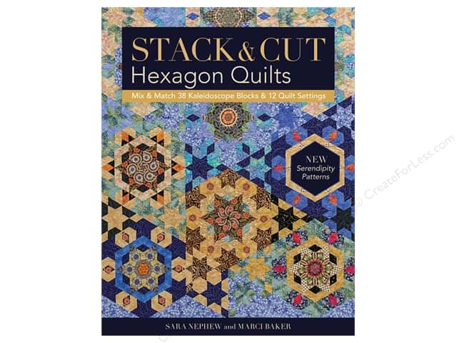 C&T Publishing Stack & Cut Hexagon Quilts Book
