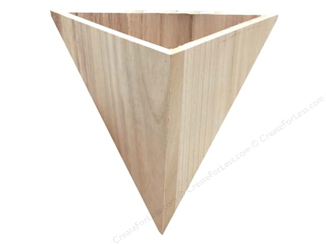 Darice Wood Container Unfinished Triangle