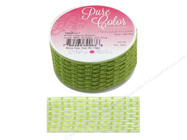 Morex Ribbon Wire Victoria 1.5 in. x 3 yd Lime