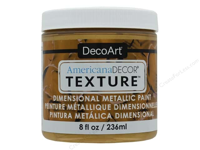 DecoArt Americana Decor Texture Metallics Gold 8 oz
