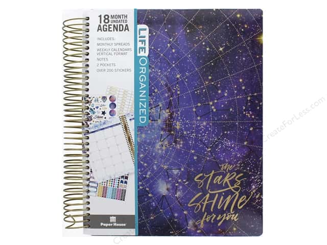 Paper House Collection Life Organized Planner 18 Month Stargazer