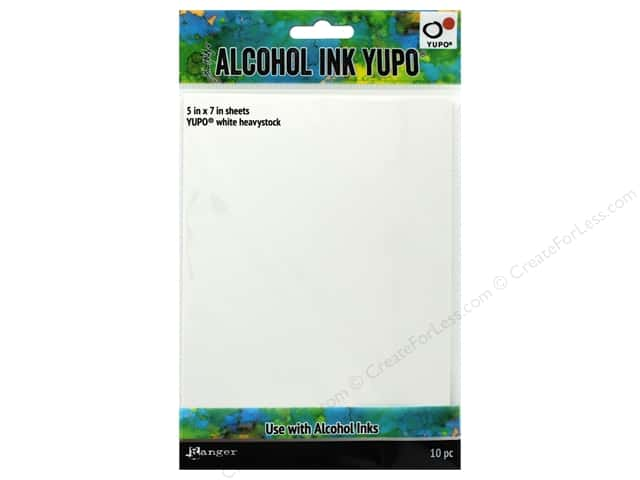 Ranger Tim Holtz Alcohol Ink Yupo Heavyweight 5 in. x 7 in. White