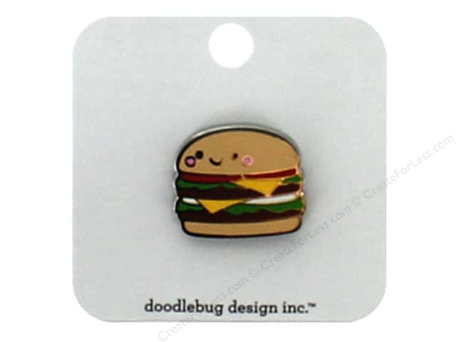 Doodlebug Collection So Much Pun Collectible Pin Cheeseburger