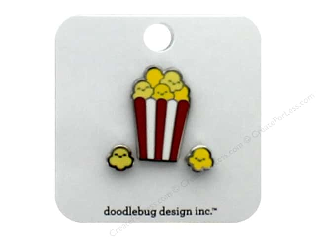 Doodlebug Collection So Much Pun Collectible Pin Popcorn