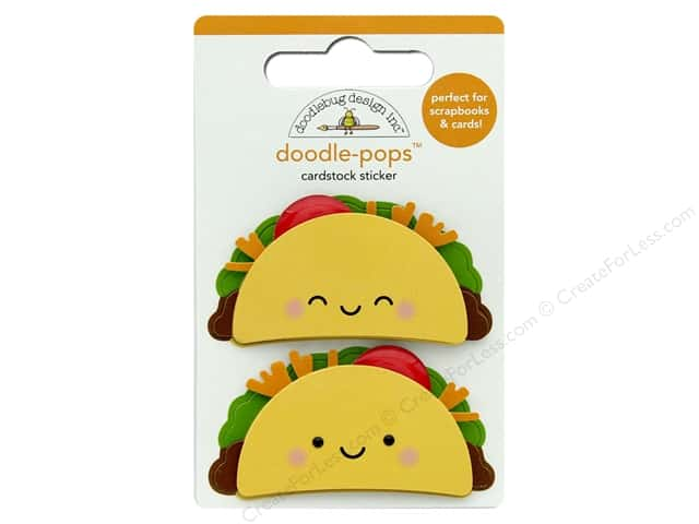 Doodlebug Collection So Much Pun Doodle Pops Taco-Bout Fun