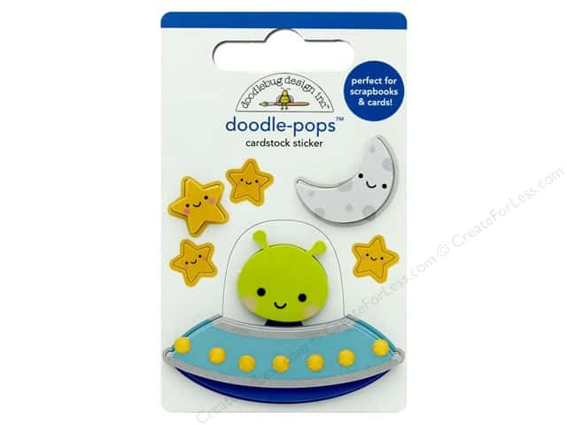 Doodlebug Collection So Much Pun Doodle Pops Out Of This World