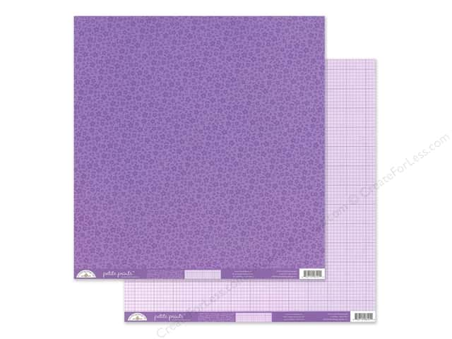 Doodlebug Collection Petite Prints Paper 12 in. x 12 in. Floral/Graph Orchid