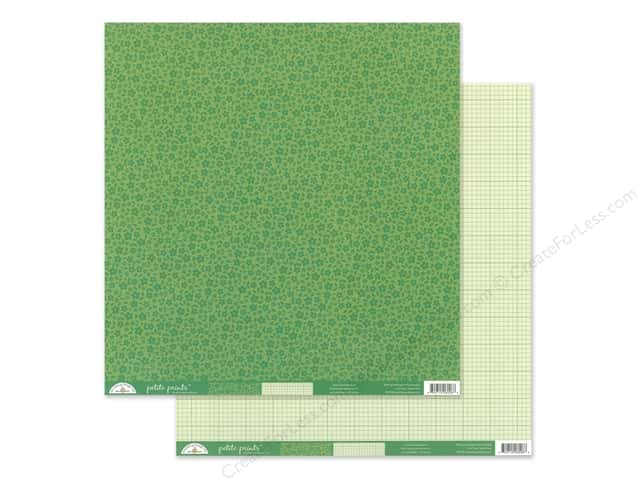 Doodlebug Collection Petite Prints Paper 12 in. x 12 in. Floral/Graph Grasshopper