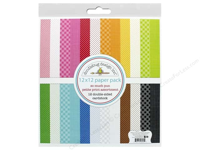 Doodlebug Collection So Much Pun Paper Pack 12 in. x 12 in. Petite Print