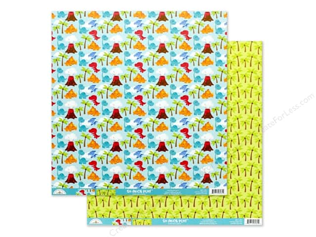 Doodlebug Collection So Much Pun Paper 12 in. x 12 in. T-riffic