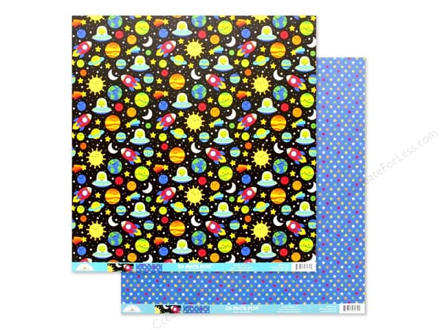 Doodlebug Collection So Much Pun Paper 12 in. x 12 in. Far Out