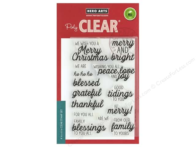 Hero Arts Poly Clear Stamp Winter Holiday Messages