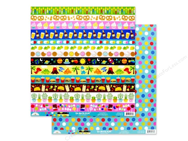 Doodlebug Collection So Much Pun Paper 12 in. x 12 in. Dots Of Fun