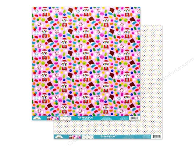 Doodlebug Collection So Much Pun Paper 12 in. x 12 in. Sweet Stuff