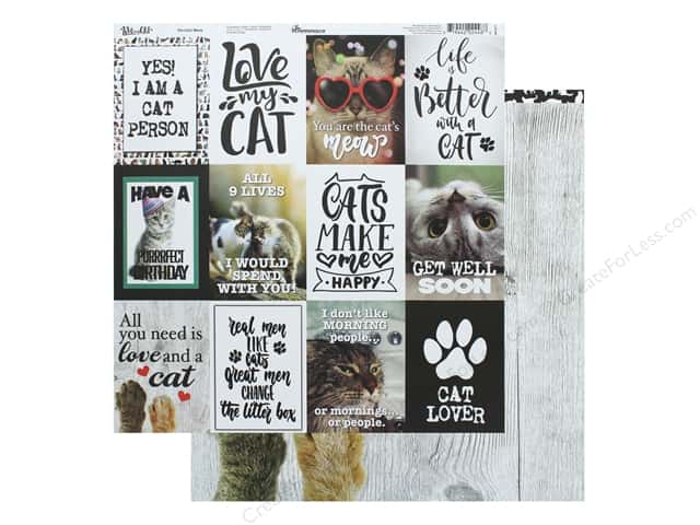 Reminisce Paper 12 in. x 12 in. The Cats Meow