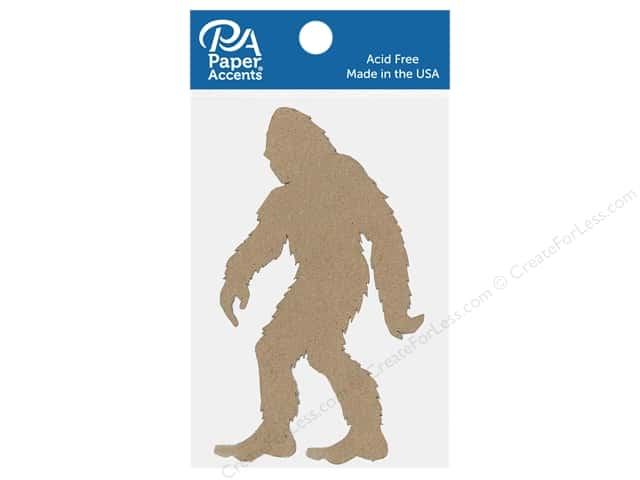 Paper Accents Chip Shape Bigfoot Natural 4 pc