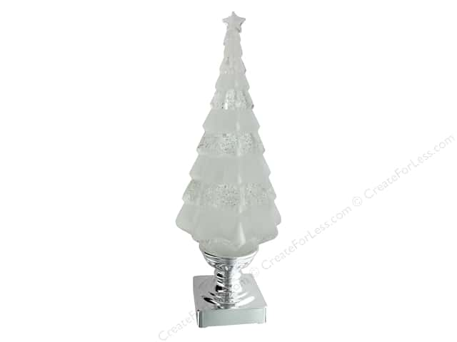 Sierra Pacific Crafts Light Up Tree Snow Globe 4.5 in. x 14 in.