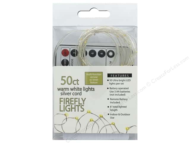 Sierra Pacific Crafts Light Firefly 50 ct Chasing With Remote Warm White/Silver Cord