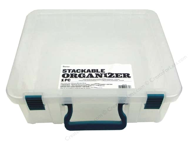 Darice Organizer Box Stackable With Handle 14 in. x 14 in. Clear