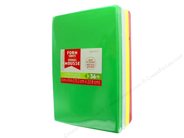Darice Foamies Brick 6 in. x 9 in. Christmas Colors