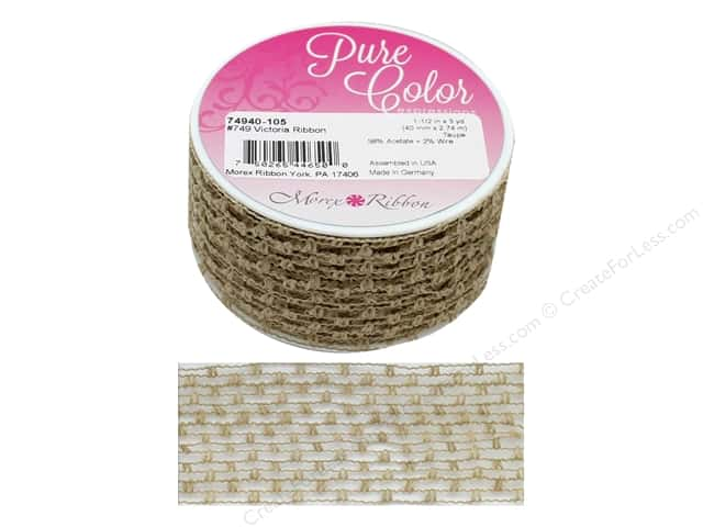 Morex Ribbon Wire Victoria 1.5 in. x 3 yd Taupe