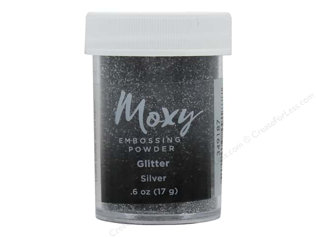 American Crafts Collection Moxy Embossing Powder Glitter Silver .6oz