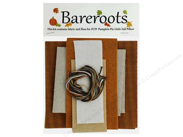 Bareroots Kit Fabric & Floss Kit Pumpkin Pie Pillow