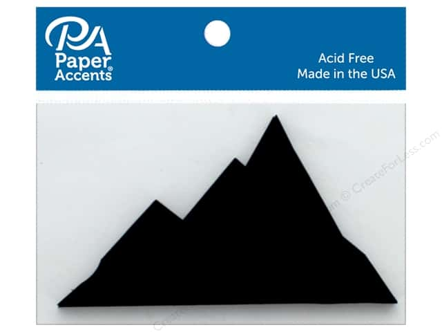 Paper Accents Chip Shape Mountains Black 4 pc