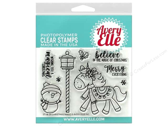 Avery Elle Clear Stamp Christmas Magic