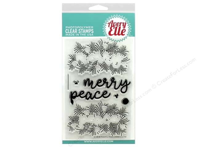 Avery Elle Clear Stamp Peaceful Pines