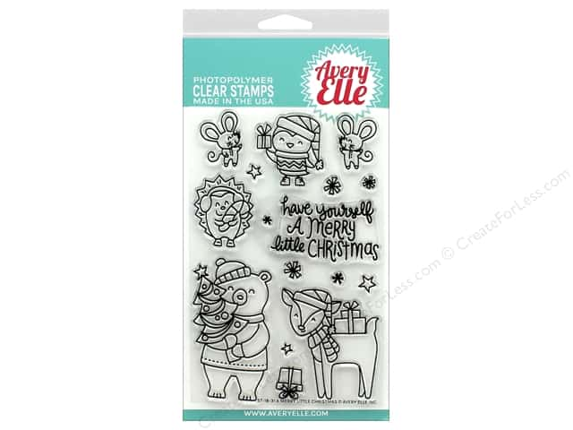Avery Elle Clear Stamp Merry Little Christmas