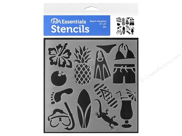 PA Essentials Stencil 6 x 6 in. Beach Vacation