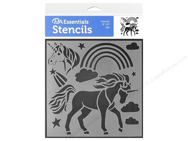 PA Essentials Stencil 6 x 6 in. Unicorn