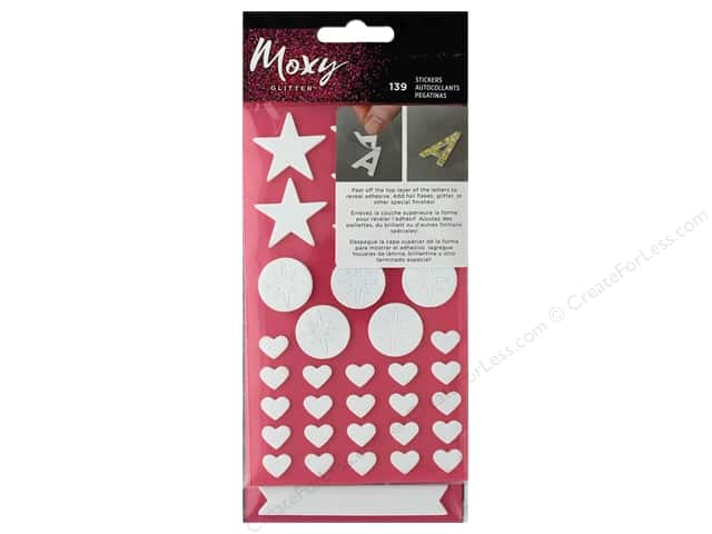 American Crafts Collection Moxy Sticker Foam Shapes