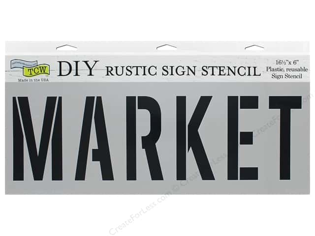The Crafter's Workshop Stencil 16.5 in. x 6 in. Market