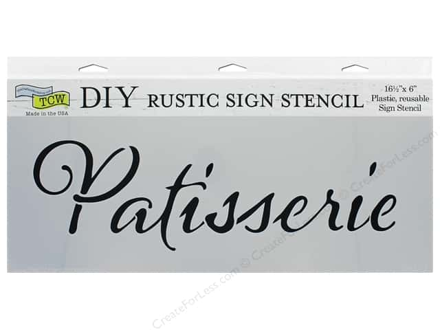 The Crafter's Workshop Stencil 16.5 in. x 6 in. Patisserie