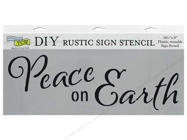 The Crafter's Workshop Stencil 16.5 in. x 6 in. Peace On Earth