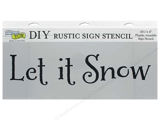 The Crafter's Workshop Stencil 16.5 in. x 6 in. Let It Snow