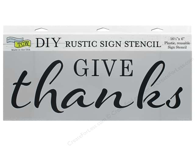 The Crafter's Workshop Stencil 16.5 in. x 6 in. Give Thanks